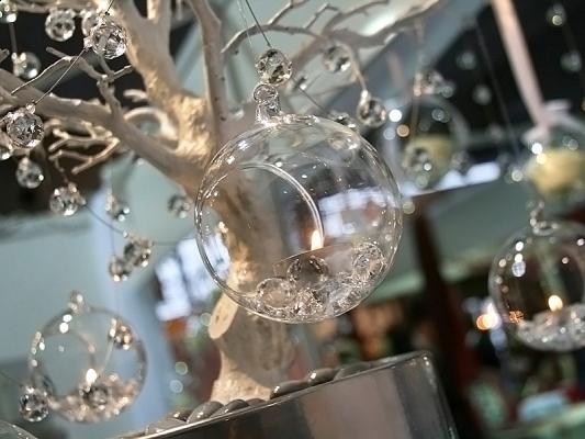Kula Szklana świecznik średnica 10 Cm 4 Szt